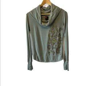 DIESEL Cowl Neck Back Cut Out Long Sleeve Top S
